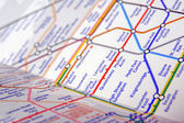 Mapa do tubo de londres subterrânea — Foto Stock