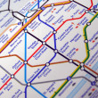 Tube map of London underground — Stock Photo #40726999