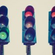 Retro look Traffic light semaphore — Stock Photo #41998903