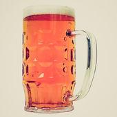 Retro look German beer glass — Stock Photo