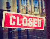 Retro look Closed sign — Stock Photo
