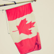 Retro look Canada flag — Stock Photo