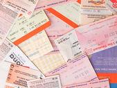 Public transport tickets — Zdjęcie stockowe