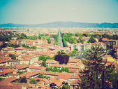 Retro look Turin panorama — Stockfoto