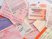 公共交通票 — 图库照片