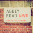 Постер, плакат: Retro look Abbey Road London UK