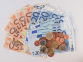 Euros coins and notes — Photo