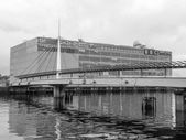 Black and white BBC Scotland, Glasgow — Stock Photo