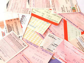 Public transport tickets — Stock Photo