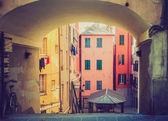 Retro look Genoa old town — ストック写真