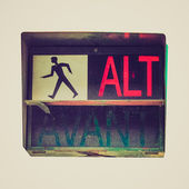 ретро красный светофор — Стоковое фото