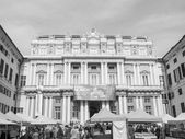 Black and white Doge Palace in Genoa — Stock Photo