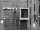 Black and white Balfron Tower in London — Stock Photo