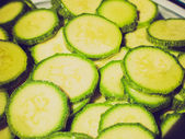 Retro look Courgettes zucchini — Stock Photo