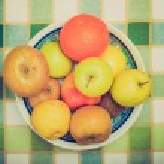 Retro look Fruits picture — Stock Photo