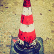 Retro look Traffic cone — Stock Photo