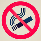 Retro look No smoking sign — Stock Photo
