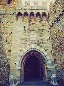 Retro look Albertis Castle in Genoa Italy — Stock Photo