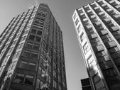 Black and white Economist building in London — Stock Photo