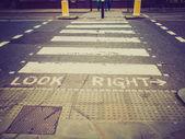 Retro look Look Right sign — Stockfoto