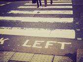 Retro look Look Left sign — Stock Photo