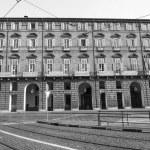 Black and white Teatro Regio royal theatre in Turin — Stock Photo #45009631