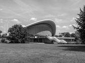 Black and white Haus der Kulturen der Welt in Berlin — Stock Photo