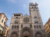 St Lawrence cathedral in Genoa — Stock Photo