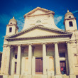 Retro look Santissima Annunziata church in Genoa Italy — Stock Photo