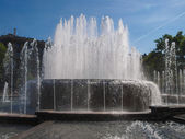 Fountain in Milan — Stock Photo