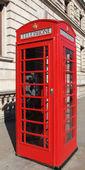 Londra telefon kulübesi — Stok fotoğraf