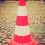 Retro look Traffic cone — Stock Photo #47009233
