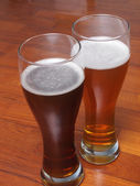 Two glasses of German beer — Stock Photo