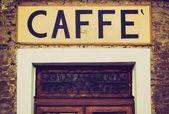 Retro görünüm caffe işareti — Stok fotoğraf