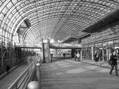 Black and white Torino Porta Susa station — Stok fotoğraf