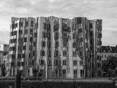 Black and white Medienhafen Duesseldorf — Stock Photo