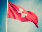 Retro look Flag of Switzerland — ストック写真