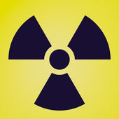 Retro look Radiation symbol — Stock Photo