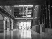 Black and white Teatro Regio royal theatre in Turin — Stock Photo