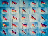Retro look German flag — Stock Photo