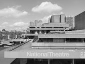 Black and white National Theatre London — Stock Photo