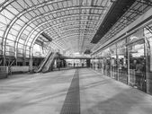 Black and white Torino Porta Susa station — Stock Photo