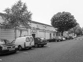 Black and white BBC Maida Vale studios — Stock Photo