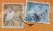 Chinese bird stamps — Stock Photo