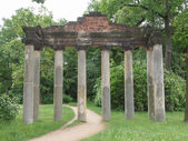 Sieben Saeulen ruins in Dessau Germany — Stock Photo