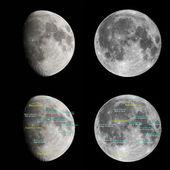 Moon atlas — Stock Photo