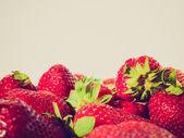 Retro look Strawberry — Stock Photo