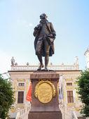 Goethe Denkmal Leipzig — Stok fotoğraf
