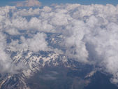 Clouds on Alps — Stock Photo