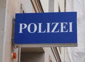 Polizai police sign — Stock Photo